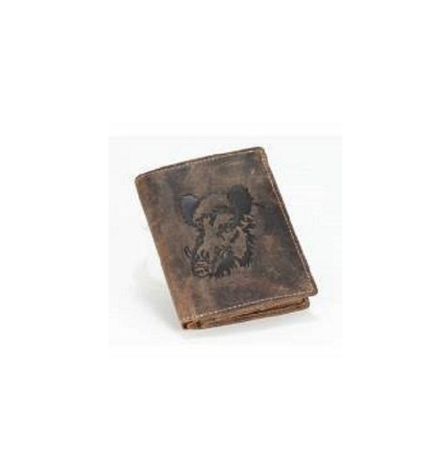 011b8bae267c6 Geldbörse Keiler im Hochformat in Braun aus Leder von Green Burry