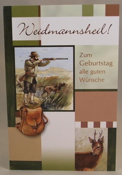 Geburtstagskarte Jäger und Bock